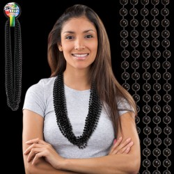 Black Plastic Beaded Necklace