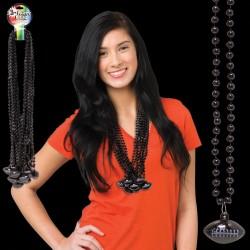 Black Football Necklace