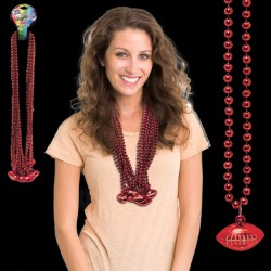 Red Football Necklace