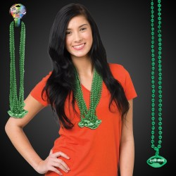 Green Football Necklace Beads