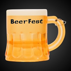 Mini Yellow (Amber) Beer Mug Medallion