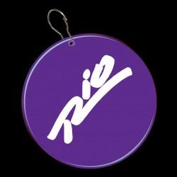 Purple Circle Plastic Medallion Badges