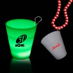Green LED 2oz Shot Glass Medallion