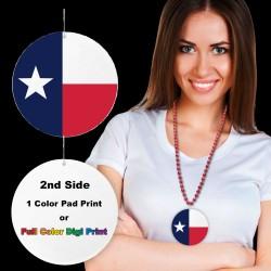 "Texas Flag Plastic Medallions - 2 1/2"""