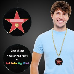 Hollywood Star Plastic Medallions - 2 1/2""