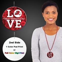 "Love Plastic Medallions - 2 1/2"""