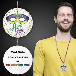 "Mardi Gras Mask Plastic Medallions2 1/2"""