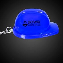 Blue Plastic Construction Hat Bottle Opener Key Chains