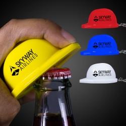 Plastic Construction Hat Bottle Opener Key Chains