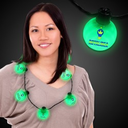 Green LED Ball Necklace