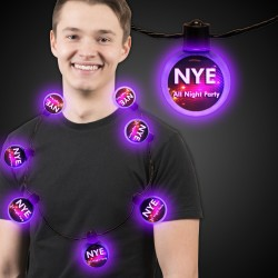 Purple LED Ball Necklace