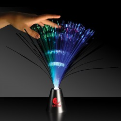 Fiber Optic Centerpiece - Silver Base - 13 1/2 Inches