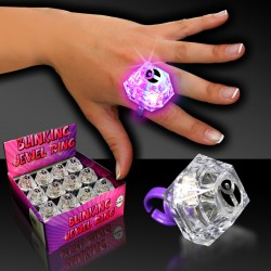 Flashing Jewel Ring - 1 3/8""