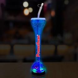 Transparent Blue LED Yard Glass