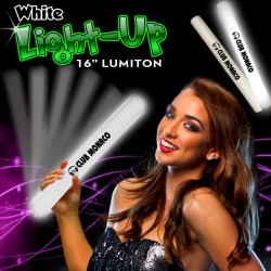 White LED Foam 16 Inch Lumiton Batons