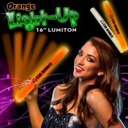 Orange LED Foam 16 Inch Lumiton Batons
