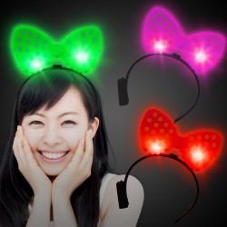 LED Polka Dot Bow Headbands