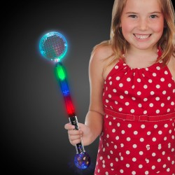 Jumbo Light Up Circle Wand with Prism Ball