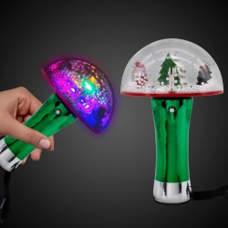 LED Christmas Tree Snow Globe Wand