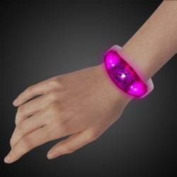 Pink LED Stretchy Silicone Bangle Bracelet with Pink LEDs