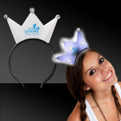 White LED Crown Headband