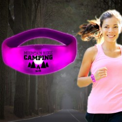 Sound Activated Pink LED Stretchy Bangle Bracelet