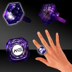 Purple Light Up Diamond Rings