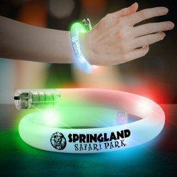 Multicolor Flashing Coil Tube Bracelet