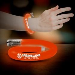 Orange Flashing Coil Tube Bracelet