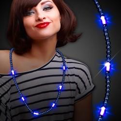 Blue LED Beaded Necklaces