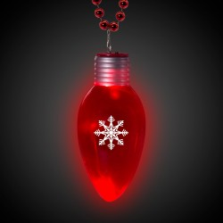 LED Jumbo Christmas Bulb Necklace