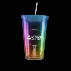 Multi Color Light Up Travel Cup with Round Insert