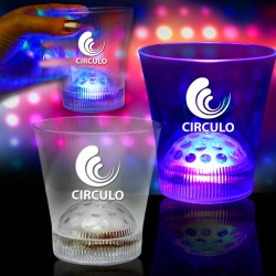 9 oz Light Up LED Disco Ball Rock Glass