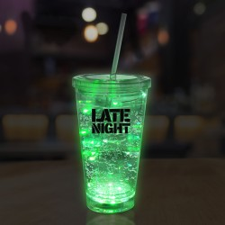 Green String Light 16oz LED Cup