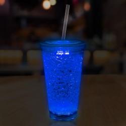 Blue LED 16 oz Crystal Tumbler