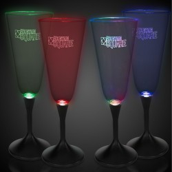 One glass, multi, green, blue, red color mode, lazer engraved