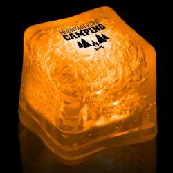 Imprinted ORANGE Lited Ice Cubes