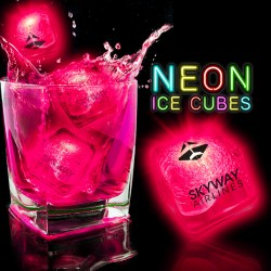 Neon Pink Lited Ice Cubes