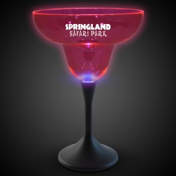 Pink Neon LED 10oz Margarita Glasses