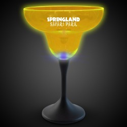 Yellow Neon LED 10oz Margarita Glasses