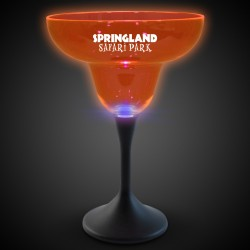 Orange Neon LED 10oz Margarita Glasses