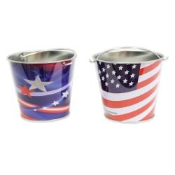 Patriotic Metal Mini  Buckets