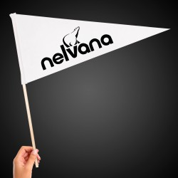 White Felt Pennant Flag