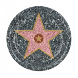 "Walk of Fame 7"" Plates - 8 Pack"