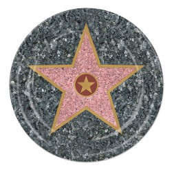 "Walk of Fame 9"" Plates - 8 Pack"