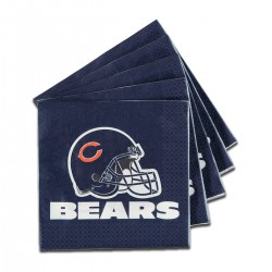 Chicago Bears Lunch Napkins -16 Pack