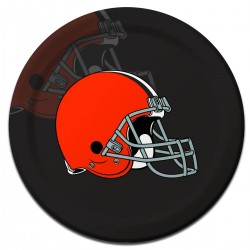 """Cleveland Browns 9"""" Plates - 8 Pack"""