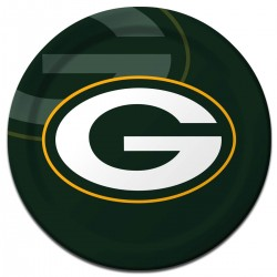 """Green Bay Packers 9"""" Plates - 8 Pack"""