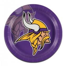 """Minnesota Vikings 9"""" Plates - 8 Pack"""