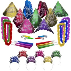 Happy New Year Metallic Cabaret Party Kit for 50 People